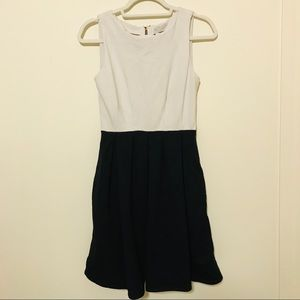 Kate Spade Black White Sleeveless Colorblock Dress